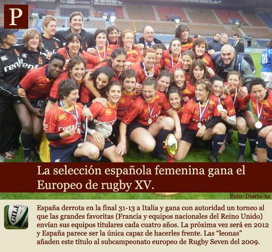 Las leonas ganan el europeo de rugby