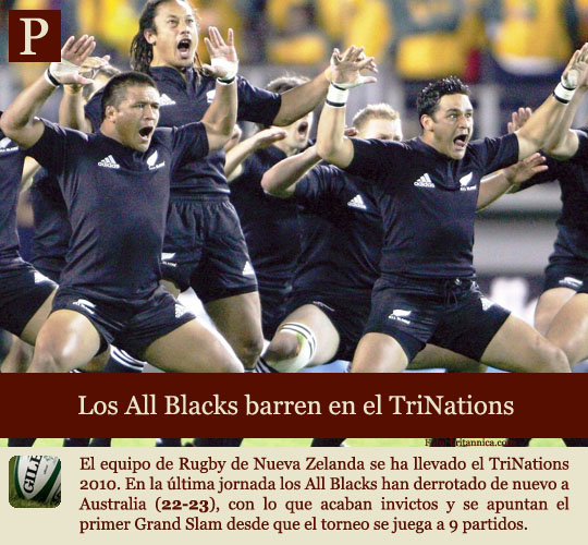 Los All Blacks dominan el 3 Naciones