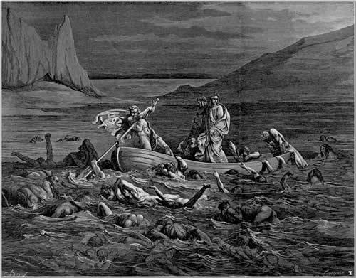 La travesía del Estigia. Gustave Doré