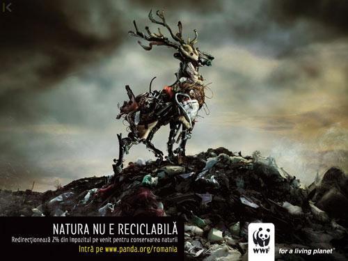 WWF, la naturaleza no puede ser reciclada