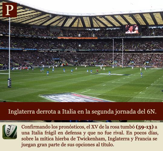 Inglaterra derrota a Italia en Twickenham