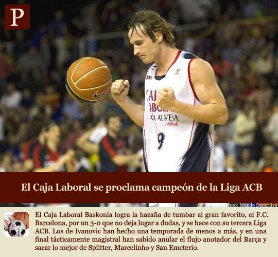 El Caja Laboral, campeón de la ACB
