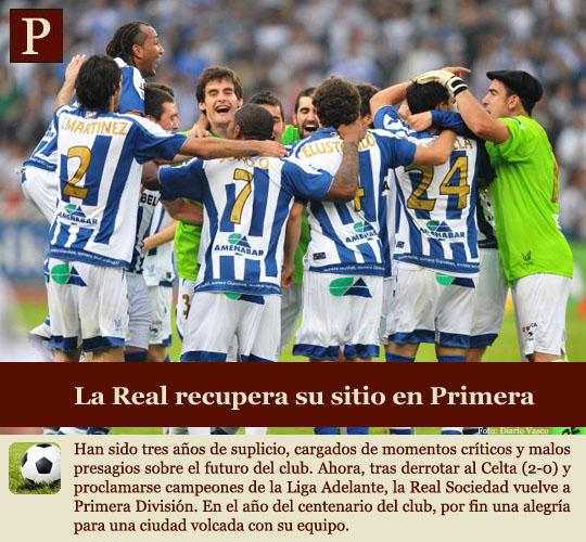 La Real Sociedad vuelve a Primera